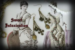 Earrings With Reliquary by Usimi-Omoi