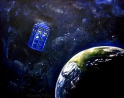Tardis in Space by louise-rabey