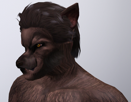 Werewolf Close Up (Sims 3) by CamKitty2