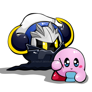 Meta knight and kirby by Catakat