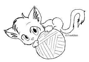 free line art cat by ShowMeYourGuns