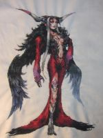 Artemisia/Ultimecia - Cross Stitch by Melian-Vidumavi