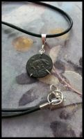 Ancient Roman Coin Wolf and Twins Rustic Necklace by sixstringphonic