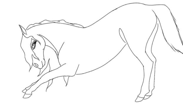 bowing mare wip by Equestriangirl21