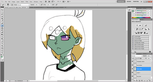 Brainiac 5 WIP by Tespeon