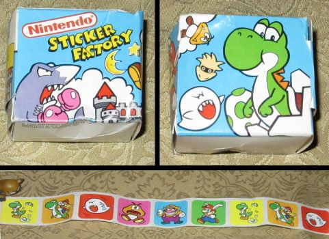 Nintendo Sticker Box and Mario Sticker roll by avaneshop