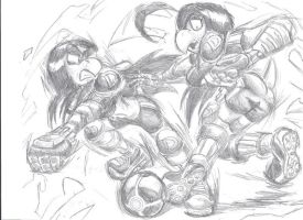 .:Dreger Strikers Sketch:. by MasterMario90