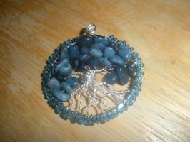 dyed blue quartzite tree of life by Wolf-Lady-bsparks85