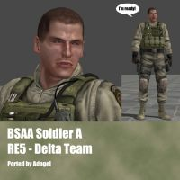 BSAA Soldier A RE5 Delta Team by Adngel