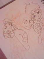 Attack On Titan Group ink: in progress~ by AnotherTryAtTrying