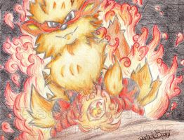 Arcanine epic fire by RachyChan