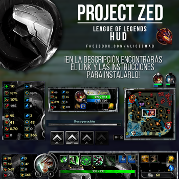 PROJECT: Zed HUD - League of Legends by AliceeMad