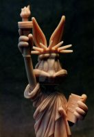 Bugs Bunny - the Statue of Liberty by sculptor101