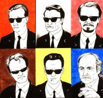 Reservoir Dogs sketchcards by Grimmwerkz