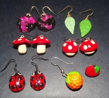 Fimo Earrings 2 by MeticulousBlue