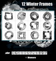 12 Winter Frames by Diamara