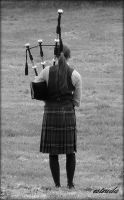 The Lone Piper by Estruda