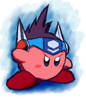 Plain Megaman Starforce Kirby by riodile