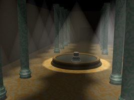 Hall of Pillars WIP 1 by carlfoxmarten