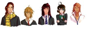 Hogwarts students by Atobe333