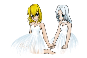 Tinkerbell and Periwinkle -request- by AminoNoodle