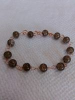 copper crackled glass bracelet by Wolf-Lady-bsparks85