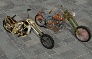 'Ride to Hell: Retribution' Bike pack 1 XNA/XPS by lezisell