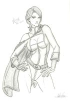 Power girl sketch by RV1994