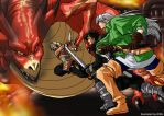 Fight for the Fire Rune by eisu