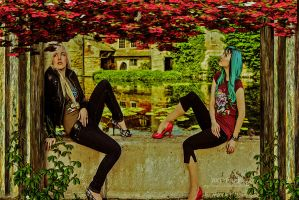 Chill Under The Bougainvillea by axymaid