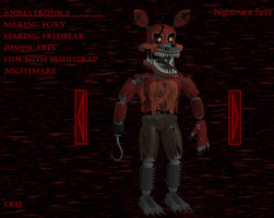 Nightmare Foxy fnaf 4 by RealMoonlight