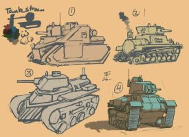 Tank stream sketches by Pyrosity