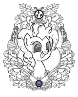 Pinkie Vintage Profile (Line Art) by Template93