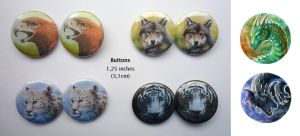 Animal buttons by Dragarta