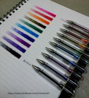 Color ballpoint pen Shades study by srimant