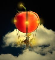 Flying Tomato Steampunk Detail by Robotlick