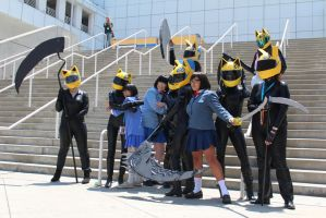 Anri and Celty - AX 2012 by AtomicBrownie