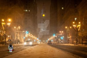 City Hall Snowed In. by SkeIator