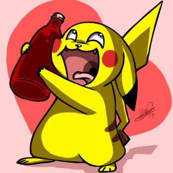 Pikachu Loves Ketchup by Lanmana