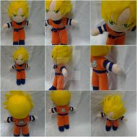 Goku Super Saiyan Plush by Piplup501