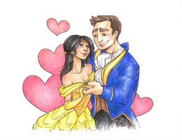 Beauty and the Beast Commission by khaedin