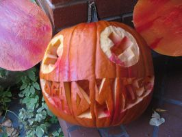Deadmau5 Jack O' Lantern by TheLanguidClown
