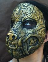 Ornate Monster Mask  Brass by missmonster