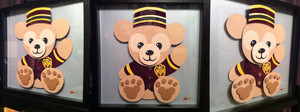 Commission:  Duffy the Disney Bear Shadowbox by The-Paper-Pony