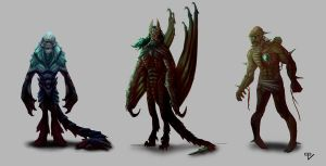 Classic Monsters by RiptorCPV