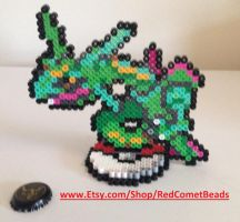 Rayquaza Standing Sprite by HaleysRedComet
