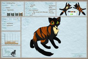 COTN - ScorchingPaw App sheet. by annathewerewolf