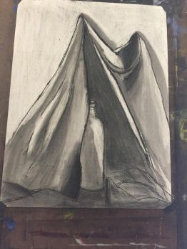 Practice piece: charcoal shading and lines by MrSlin