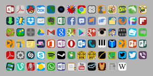 FlatView Icon Theme 0.1.2 by TheGoldenBox