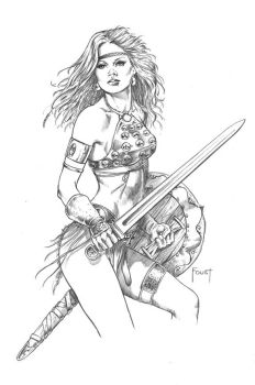 Young Warrior by MitchFoust